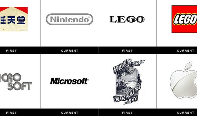 L'évolution des logos des plus grandes marques, un retour dans le temps